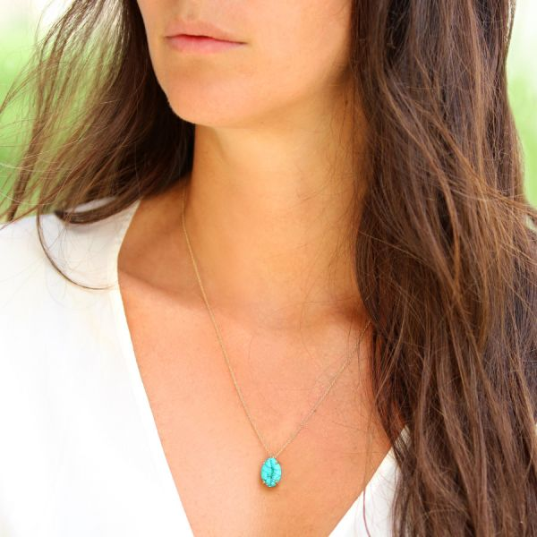 Collier Coquillage Turquoise