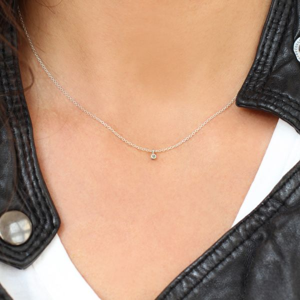 Collier diamant en argent